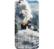 christmas train iPhone Case/Skin