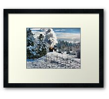 christmas train Framed Print