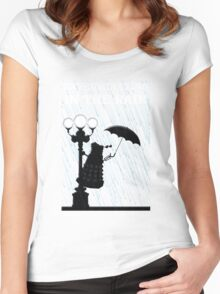 MusiKill in the Rain Women's Fitted Scoop T-Shirt