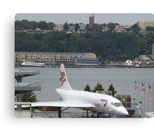 Vintage British Airways Concorde,  Intrepid Sea Air and Space Museum, New York City  Canvas Print