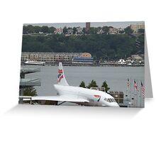 Vintage British Airways Concorde,  Intrepid Sea Air and Space Museum, New York City  Greeting Card