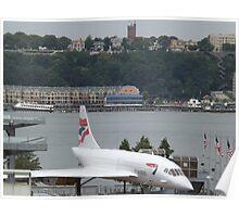 Vintage British Airways Concorde,  Intrepid Sea Air and Space Museum, New York City  Poster