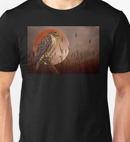 Red Tail Hawk At Rest Unisex T-Shirt