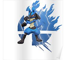 Super Smash Bros Lucario 3ds/wii u Poster