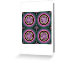 Colourful Mandala with tribal patterns Greeting Card