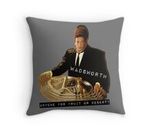 The Butler Wadsworth  Throw Pillow