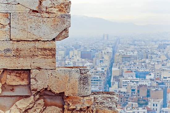 athens buildings from the acropolis by pmacimagery