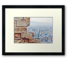 athens buildings from the acropolis Framed Print