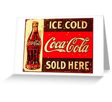 Café and Restaurant Art and Food Posters – Retro Posters – Coca Cola Posters Greeting Card