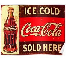 Café and Restaurant Art and Food Posters – Retro Posters – Coca Cola Posters Poster