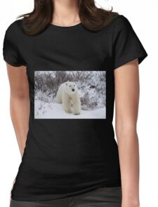 Polar Bear Coming out of the Arctic Willow Womens Fitted T-Shirt