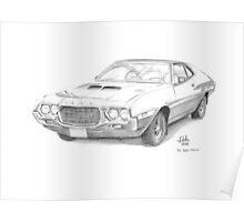 1972 Ford Gran Torino  Poster