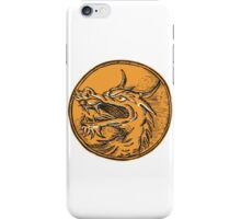 Chinese Dragon Head Circle Etching iPhone Case/Skin