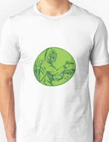 Herbicide Pesticide Control Exterminator Spraying Etching T-Shirt