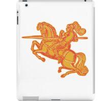 Knight Full Armor Horseback Lance Etching iPad Case/Skin