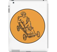 Rider Riding Soapbox Etching iPad Case/Skin