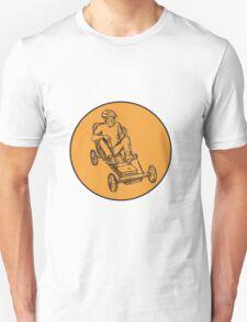 Rider Riding Soapbox Etching T-Shirt