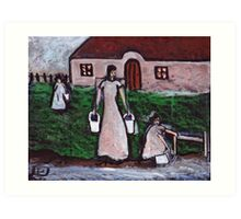 Fetching the water  Art Print