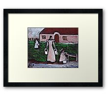 Fetching the water  Framed Print