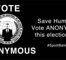 Vote Anonymous Sticker