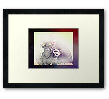Markiplier And Toothless Framed Print