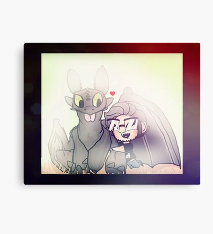 Markiplier And Toothless Canvas Print
