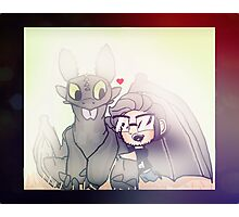Markiplier And Toothless Photographic Print