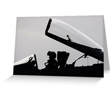 Warrior and His Wings Greeting Card