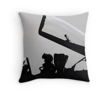 Warrior and His Wings Throw Pillow