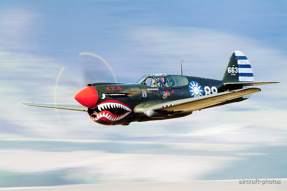 """""""P-40 FLYING TIGER"""" by aircraft-photos 