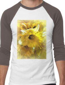 Spring Daffodils  Men's Baseball ¾ T-Shirt