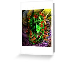 Portrait of a Night Elf Greeting Card