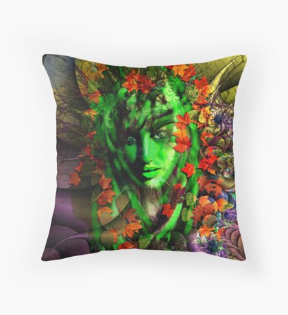 Portrait of a Night Elf Throw Pillow