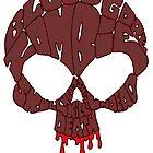 Word Skull Red by Skree