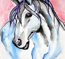 Lady Velvet - Horse Art by Valentina Miletic by Valentina Miletic