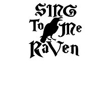 Sing to me Raven Photographic Print