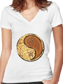 Leo & Tiger Yang Wood Women's Fitted V-Neck T-Shirt