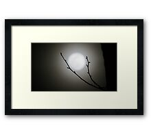 Moon in Raleigh, NC 2 Framed Print