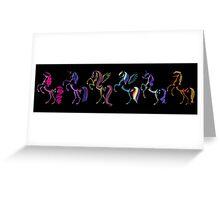 My Little Pony Minimal Mane 6 Greeting Card