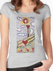 (be of good cheer) For We Return To Love Women's Fitted Scoop T-Shirt