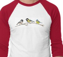 Garden birds Men's Baseball ¾ T-Shirt
