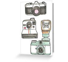Cameras Greeting Card