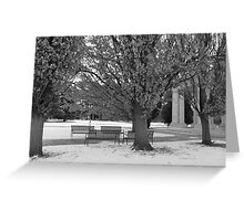 Cold Day At The Park Greeting Card