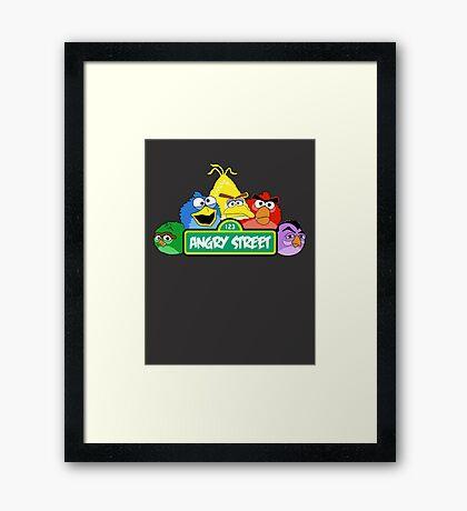 Angry Birds Parody Framed Print