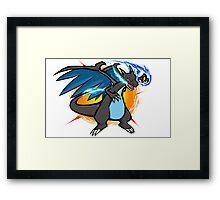 Mega Charizard X   Fire Punch Framed Print