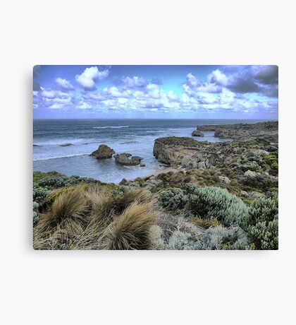 The Eroding Coast ( 1 ) Canvas Print