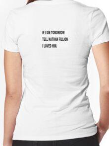 NATHAN FILLION Women's Fitted V-Neck T-Shirt