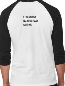 NATHAN FILLION Men's Baseball ¾ T-Shirt