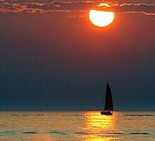 Sailing into the sunset by photobear