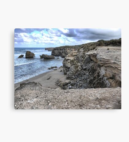 The Eroding Coast (2) Canvas Print
